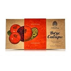 Шоколад темный «Вкус Сибири» с брусникой, 100г «Сибирский Кедр»